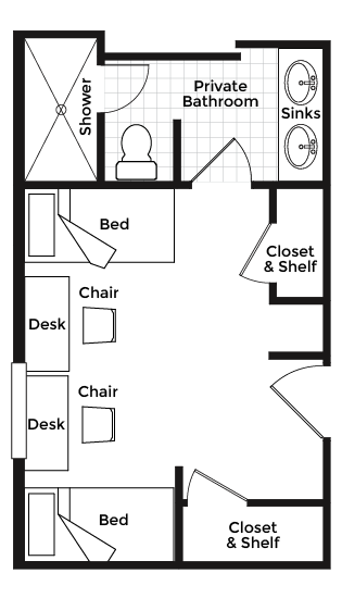 double dorm rooms at ivy house luxury residence hall for dormitory style house plans house design and decorating