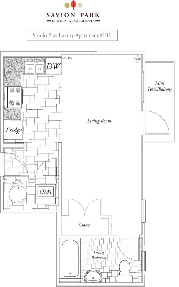 Savion Park Studio Apartments near UF   Gainesville Apartments